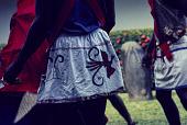 view Dance apron of a Ogumogu dancer during a National Museum of Lagos Exhibition, Lagos, Nigeria digital asset: Ogumogu Dance Performance, Detail - Dance Apron, National Museum of Lagos Exhibition, Lagos, Nigeria
