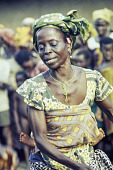 view Ekpe Urhobo women dancing during a Leaf Masquerade, Ohoro Town, Nigeria digital asset: Urhobo Women Dancing, Ekpe, Leaf Masquerade, Ohoro Town, Nigeria
