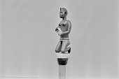 view A figure on a title staff from the Edo Collection of the National Museum of Lagos, 69.3.71, Lagos, Nigeria digital asset: A figure on a title staff from the Edo Collection of the National Museum of Lagos, 69.3.71, Lagos, Nigeria