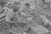 view Makonde wood carvers working, Dar es Salaam, Tanzania digital asset: Makonde wood carvers working, Dar es Salaam, Tanzania