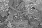 view Makonde wood carver working, Dar es Salaam, Tanzania digital asset: Makonde wood carver working, Dar es Salaam, Tanzania