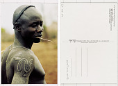 view Mursi male showing scarifications Omo Valley, Ethiopia digital asset: Mursi male showing scarifications Omo Valley, Ethiopia