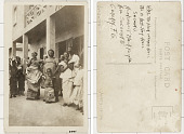 view [Group of women and children posing in street] digital asset: [Group of women and children posing in street]