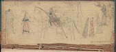 view MS 4452-b Book of drawings, probably Cheyenne, primarily of individual men on horseback digital asset: Book of drawings, probably Cheyenne, primarily of individual men on horseback