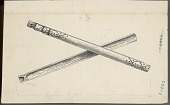 view MS 4948 Drawings of Zuni game equipment digital asset: Game equipment