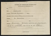 view MS 1971 Texts on Kickapoo mortuary customs and observances collected by Truman Michelson digital asset: Texts on Kickapoo mortuary customs and observances collected by Truman Michelson
