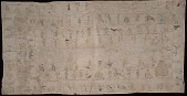 view MS 2001-10 Anonymous Lakota winter count on muslin digital asset: Anonymous Lakota winter count on muslin