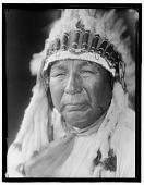 view Portrait of Oto man Pipe-stem wearing feather headdress digital asset: Portrait of Oto man Pipe-stem wearing feather headdress