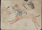 view MS 1929A Drawings of war deeds of Sitting Bull and Jumping Bull digital asset: Four Horns copy of Sitting Bull and Jumping Bull pictographic autobiographies