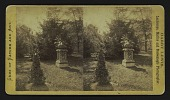 view [urn on a pedestal with rustic chair] digital asset: [urn on a pedestal with rustic chair]