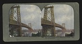 view The New Williamsburg Suspension Bridge, New York and Brooklyn digital asset: The New Williamsburg Suspension Bridge, New York and Brooklyn
