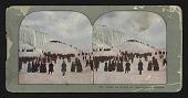 view Great Ice Bridge and Sight Seers at Niagara digital asset: Great Ice Bridge and Sight Seers at Niagara
