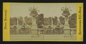 view [View of Luxembourg Gardens with urn and statue] digital asset: [Luxembourg Gardens]