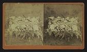 "view [Funerary floral arrangement]: floral pillow, ""From Friends."" digital asset: [Funerary floral arrangement]: floral pillow, ""From Friends."""