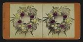 view [Funerary floral arrangement]: wreath. digital asset: [Funerary floral arrangement]: wreath.