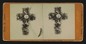 "view [Funerary floral arrangement]: Cross of Natural Flowers digital asset: [Funerary floral arrangement]: ""Cross of Natural Flowers."""