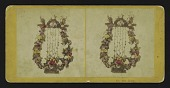 "view [Funerary floral arrangement]: Harp digital asset: [Funerary floral arrangement]: ""Harp."""