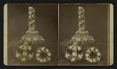 view [Funerary floral arrangements: anchor, wreath and broken column or pillar] digital asset: [Funerary floral arrangements]: anchor, wreath and broken column or broken pillar.
