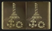 view [Funerary floral arrangements]: anchor, wreath and broken column or broken pillar. digital asset: [Funerary floral arrangements]: anchor, wreath and broken column or broken pillar.