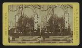 view Universalist Church, Salem, Mass., Decorations, June 1873 [God Bless Our School] digital asset: Universalist Church, Salem, Mass., Decorations, June 1873 [God Bless Our School]