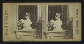 view [lady reading a letter in a window] digital asset: [lady reading a letter in a window]