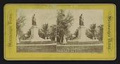 view [Thomas Hart Benton Statue,] Lafayette Park, St. Louis digital asset: Lafayette Park, St. Louis