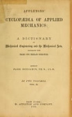 view Appletons' cyclopaedia of applied mechanics: a dictionary of mechanical engineering and the mechanical arts. Edited by Park Benjamin digital asset number 1