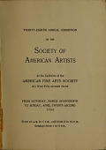 view Catalogue of the ... exhibition / Society of American Artists digital asset number 1