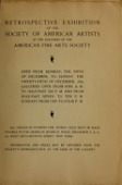 view Catalogue of the retrospective exhibition, 1892 / Society of American Artists digital asset number 1