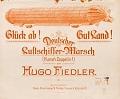 view Gluck ab! Gut land! : Deutscher Luftschiffer-Marsch (Hurrah Zeppelin!) digital asset number 1