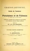 view Graesse-Jaenicke : Guide de l'amateur de porcelaines et de faïences (y compris grès et terres-cuites); collection complète des marques de porcelaines et de faïences connues jusqu'à présent / Fondé par dr. J. G. Th. Graesse digital asset number 1