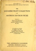 "view The Japanese Print Collection of Arthur Davison Ficke, Author of ""Chats on Japanese Prints,"" ""Twelve Japanese Paintings,"" ""Sonnets of a Portrait Painter,"" etc digital asset number 1"