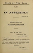 view Second annual industrial directory of New York State 1913 / compiled and published under the direction of James M. Lynch digital asset number 1