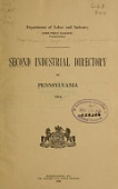 view Second industrial directory of Pennsylvania, 1916 digital asset number 1