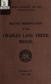 view Second presentation of the Charles Lang Freer medal, May 3, 1960 digital asset number 1