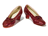 view Recovered Ruby Slippers visit museum for examination by conservators, curators . . . and FBI agents digital asset number 1