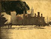 view A fire in the Smithsonian Castle, 150 years ago digital asset number 1