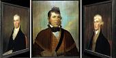 view Three-Way Portrait of Thomas Jefferson, James Monroe, and Unidentified Native American (William McIntosh?) digital asset number 1