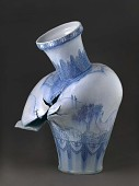 view Vase with Landscape and Dinosaurs digital asset number 1