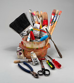 view Assorted tubes of acrylic paint digital asset number 1