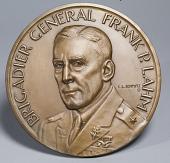 view Plaque, Brigadier General Frank P. Lahm, Obverse digital asset number 1