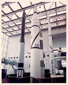 view Rocket, Launch Vehicle, Jupiter-C, Replica, with Explorer 1 Satellite, Replica digital asset number 1
