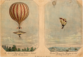 view The Ascent of the Royal Nassau Balloon from Vauxhall and The Fatal Descent of the Parachute digital asset number 1