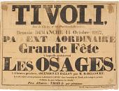 view Tivoli PA Ext Aordinaire Grade Fete A laquelle assisteront Les Osages digital asset number 1