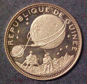 view Coin, Commemorative, Apollo 11, Republic of Guinea digital asset number 1