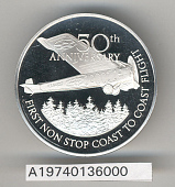 view Case, Medal, 50th Anniversary of the First Non-stop Transcontinental Flight digital asset number 1