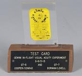 view Card, Inflight Vision Test, Gemini VII digital asset number 1