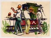 view Welding a railroad car digital asset number 1