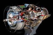 view Rolls-Royce Dart Mk. 520 Turboprop Engine, Cutaway digital asset number 1