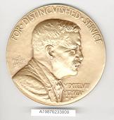 view Case, Medal, Roosevelt Memorial Association Distinguished Service, Gen. Yeager digital asset number 1